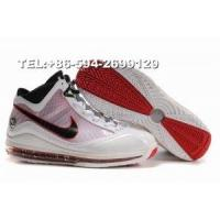 China 375664-106 nike zoom lebron VII James basketball shoes(white/red) on sale
