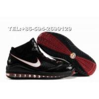 China 375793-061 nike zoom lebron VII James basketball shoes(black/red) on sale