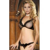 Buy cheap Satin and Mesh Sexy Bra Set BP8026 from Wholesalers