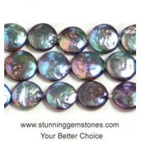 Wholesale Wholesale Large Coin Pearl, 18-20mm, A Grade, Peacock Color, per 16 inch strand from china suppliers