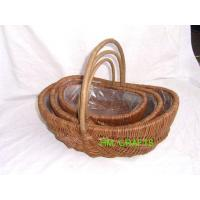 Buy cheap Unpeeled willow basket from wholesalers