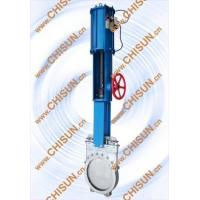 Wholesale pneumatic with hand wheel kinfe gate valve from china suppliers