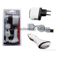 Wholesale 3in1 charger kit For iPod/iPhone 3G/3GS from china suppliers
