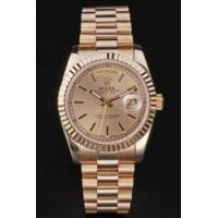 Wholesale Replica Rolex Day Date rl3 18k yellow gold Men's watch with Asia Automatic Movement 34mm from china suppliers