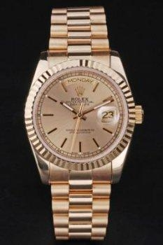China Replica Rolex Day Date rl3 18k yellow gold Men's watch with Asia Automatic Movement 34mm