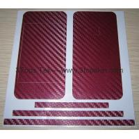 Buy cheap iPhone 4 Skin Protector-Carbon Fiber Skin-Deep Red from wholesalers
