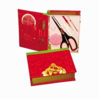 China Bride Product Name:Fabric Faced Book-like Sewing Kit