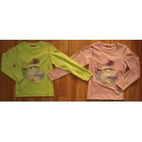 Wholesale Kid's wear WL109-GIRL'S LS SHIRT WITH APLQ/BEADS/ PRINT/CRO/LACE ON FRONT from china suppliers