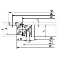 Wholesale Four point contact ball slewing bearing (with outer flange and internal gear type) from china suppliers