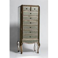Wholesale Antiqued Glass Tall Boy Chest of Drawers FG002 from china suppliers