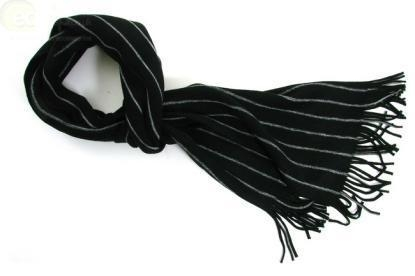 Quality 'Infinite Black' Men's Winter Scarf for sale