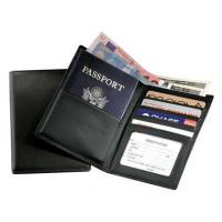 Wholesale Leather Travel Wallet w Passport-Sized Pocket & Oversized Currency CompartmentItem #: 95146 from china suppliers