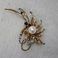 Buy cheap new design pearl brooch from Wholesalers