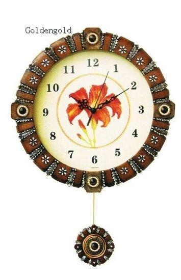 Gc9033 arts and crafts wall clock pendulum wall decor for Arts and crafts clocks for sale