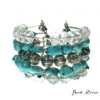 06645 - Crystal Cuff Bangle
