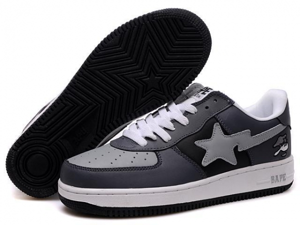 Quality Bape New and Better shoes black / gray for sale