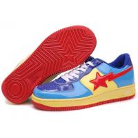 Bape Cartoon shoes blue / yellow / red