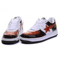 Wholesale Bape Classic Shoes - Black / White / Orange from china suppliers
