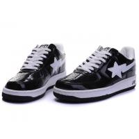 Wholesale Bape Classic Shoes - Black / White Star from china suppliers
