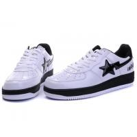 Wholesale Bape Classic Shoes - White / Black Star from china suppliers