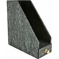 Wholesale Genuine chicken / hen leather desktop documents box HDT3 Black from china suppliers