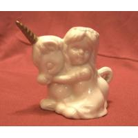 Wholesale Vintage Ceramic Unicorn and Girl - 1960's from china suppliers