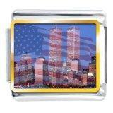 Wholesale Mothers Day Charms Italian Charms American Twin Towers Flag from china suppliers