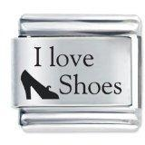 Quality I Love Shoes Shopping Italian Charm for sale
