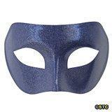 China Blue Venetian Masquerade Mask with Silver Glitter on sale