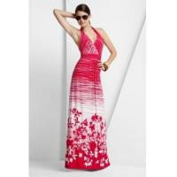Wholesale BCBGMAXAZRIA Red White Maple Leave Long Dress from china suppliers