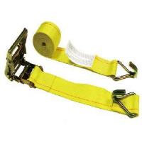"Buy cheap Tie Down Straps [18] 2"" x 16' Grey Logistic Strap- Ratchet Buckle W/ Double J Wire Hooks. from Wholesalers"