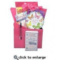 Wholesale Gift for Cancer Patient |Boredom Buster Get Well Gift Basket with Book in Pink from china suppliers