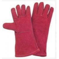 Wholesale Light Weight Red fully lined Cow Split Leather Work Gloves With Kevlar Yarn Stitched from china suppliers
