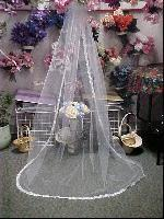 Buy cheap Rhinestone and Pearl Edge Wedding Veil (99172) from Wholesalers