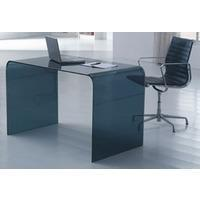 Wholesale Large Smoked Black Glass Desk from china suppliers