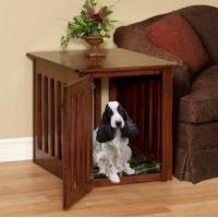 Wholesale Pinnacle Woodcraft Mission Cherry Wood Dog Crate End Table from china suppliers