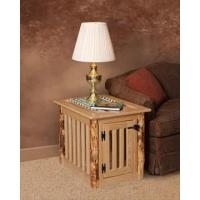 Wholesale Pinnacle Woodcraft Brown Maple Wood Log Dog Crate End Table from china suppliers