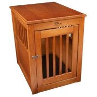 Wholesale Dynamic Accents Wood Dog Crate End Table in Burnished Oak Finish 52168 from china suppliers