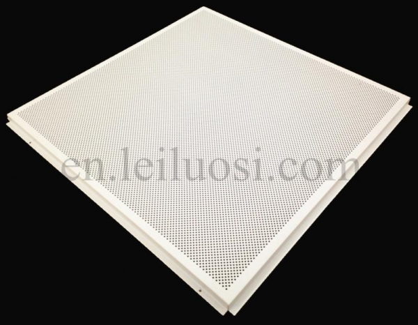 Straggered pattern perforated lay in aluminum ceiling tile for Individual ceiling tiles for sale