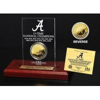 Wholesale Crimson Tide 13 Time Champions Engraved Acrylic with 24KT Gold Champions Coin from china suppliers