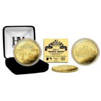2011 World Series Dueling Logo 24KT Gold Coin