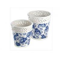 Wholesale Blue Floral Planter Duo from china suppliers