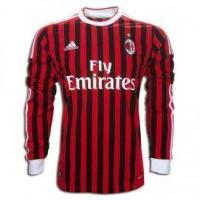 China Adidas 11-12 AC Milan Home Long Sleeve Soccer Jersey on sale
