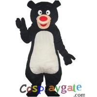 Wholesale Blue Black Bear Plush Adult Mascot Costume from china suppliers