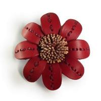 Buy cheap BH1 Leather Handmade Brooch from Wholesalers