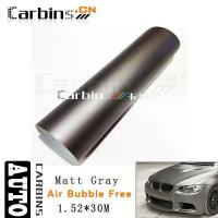 Wholesale Matt car wrap Matt Gray Vinyl Car Wrap from china suppliers