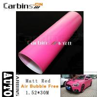 Wholesale Matt car wrap Matt Voilet Red Vinyl Car Wrap from china suppliers