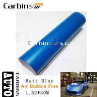 Wholesale Matt car wrap Matt Blue Vinyl Car Wrap from china suppliers