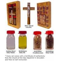 Wholesale Anointing Crucifix with Holy Water, Anointing Oil, Frankincense & Earth  $14.99 from china suppliers