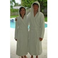 Wholesale Cotton Terry Hooded Spa Robe 20 oz from china suppliers